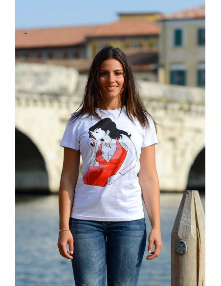 T-shirt donna - cartoon Margot - Blasfemus