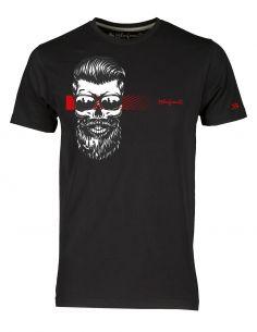 T-shirt uomo - Teschio con barba e occhiali - Blasfemus