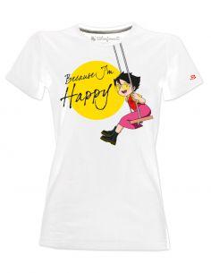 T-shirt donna - Heidi - Because i'm Happy cartoni animati anni 80