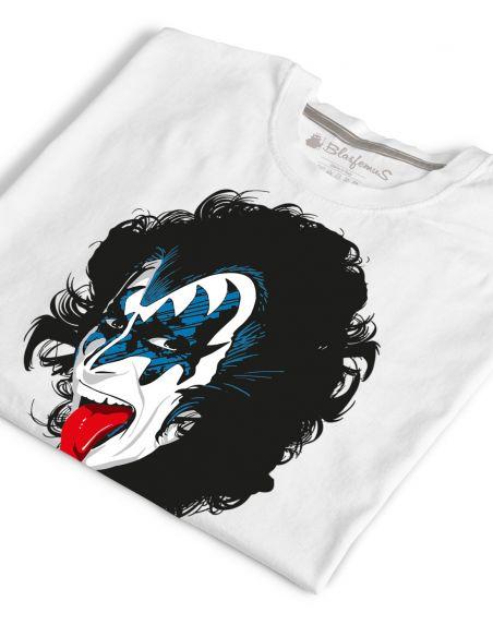 T-shirt uomo bianca - Kiss Gene Simmons Blasfemus
