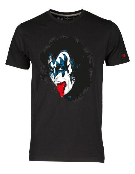 T-shirt uomo nera - Kiss Gene Simmons Blasfemus