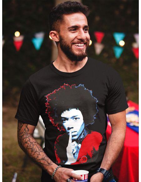 T-shirt uomo nera - Jimi Hendrix Blasfemus