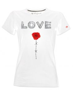 T-shirt donna - Love filo spinato - Blasfemus