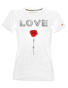 T-shirt donna - Love filo spinato - Blasfemus