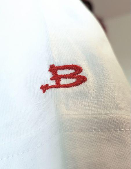 T-shirt donna - B cucita sulla spalla - Blasfemus