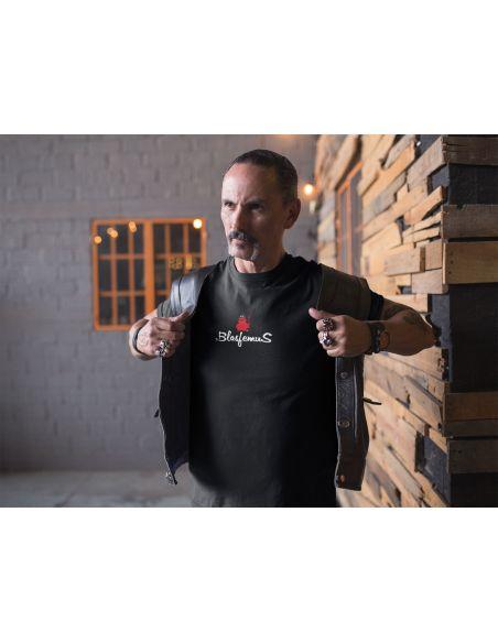 T-shirt uomo nera - Logo centrale - Blasfemus