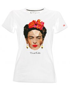 T-shirt donna - Frida Kahlo Ufficiale stile poligonale - Blasfemus
