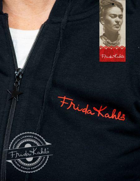 Felpa con cappuccio donna - Frida Kahlo Ufficiale nera