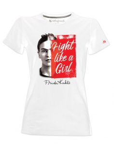 T-shirt donna - Frida Kahlo Ufficiale scritta Fight like a Girl - Blasfemus