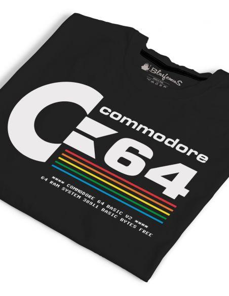 T-Shirt Uomo Commodore 64 Anni 80 Vintage Nerd - nera