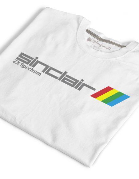 T-Shirt Uomo ZX Spectrum Vintage Nerd bianca - Blasfemus